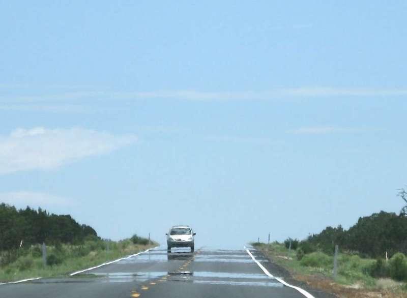 Carretera Con Espejismos