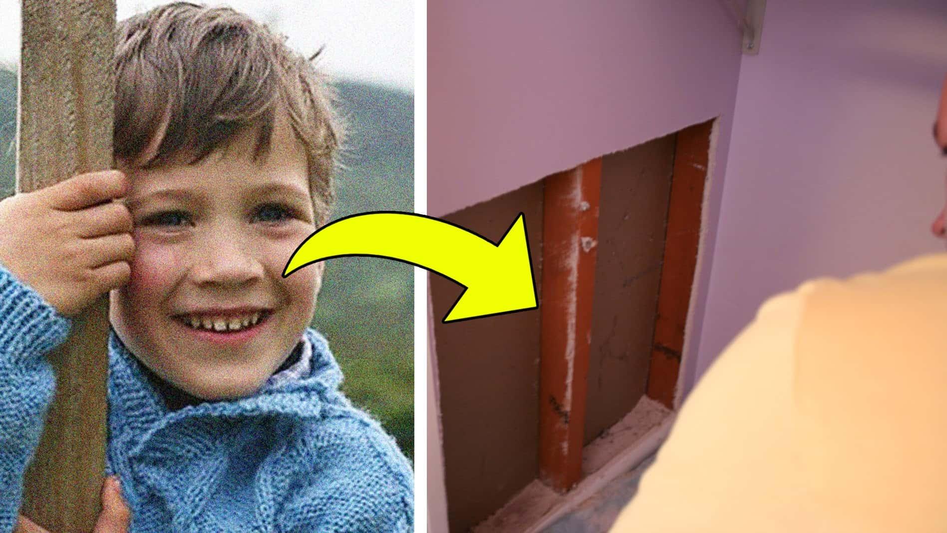 Filho de dez anos estava desaparecido há dois anos — mas quando seu pai olhou atrás do guarda-roupa...